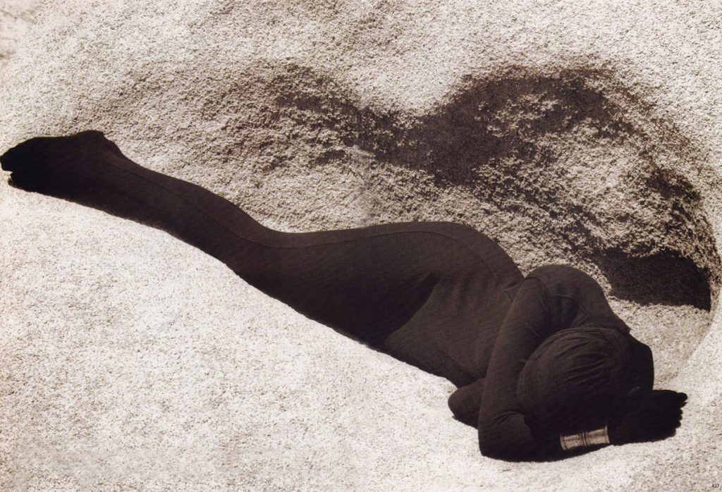 Herb Ritts, Metamorphosis of the Body, British Vogue, October 1988